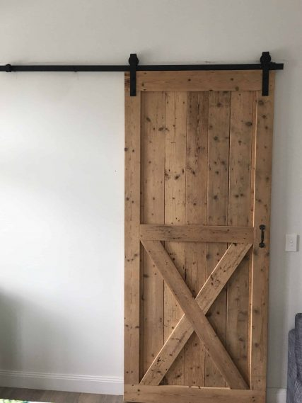 Custom timber door